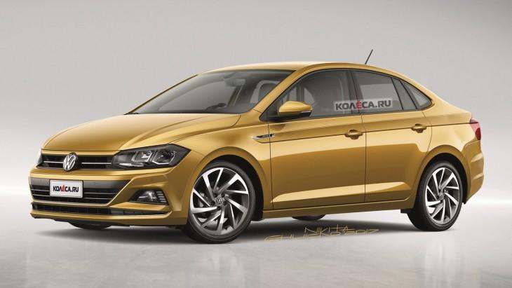 Новый Volkswagen Polo Sedan: первые изображения