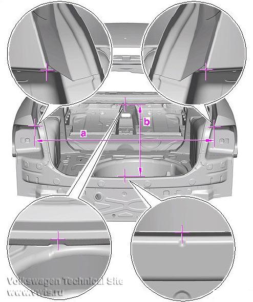 Контрольные точки кузова Фольксваген Поло седан