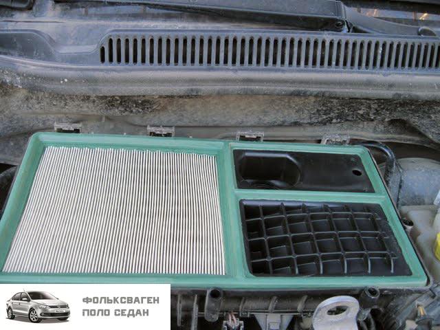 Замена масла и фильтров на Volkswagen Polo Sedan