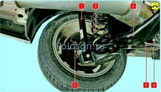 Задняя подвеска Поло седан, особенности, неисправности