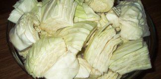 Засолка капусты, порезанной крупными кусками