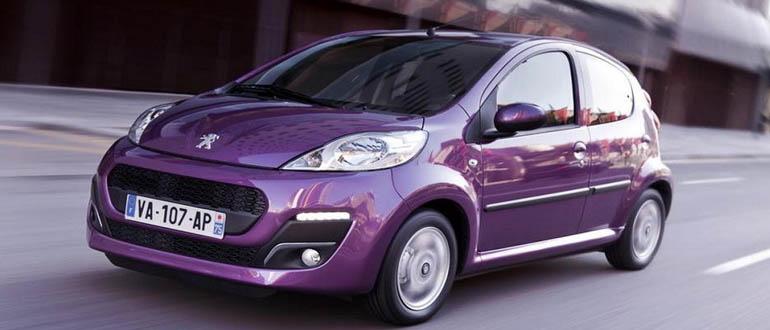 Peugeot 107 маленькие машины для женщин марки недорогие автомат
