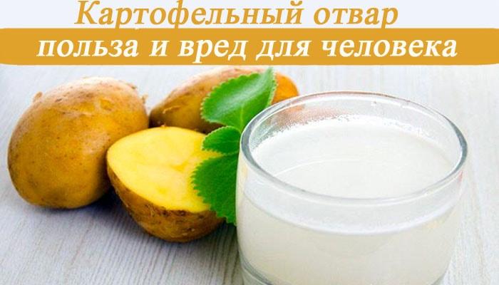 Картофельный отвар: польза и вред для человека