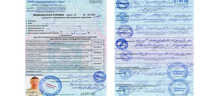 медкомиссия для замены водительских прав