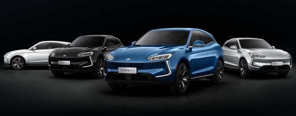 Модельный ряд китайских автомобилей Huawei
